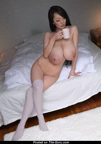 Image. Naked amazing lady with huge natural boobs image