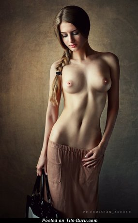 Naked hot lady with natural boobies picture
