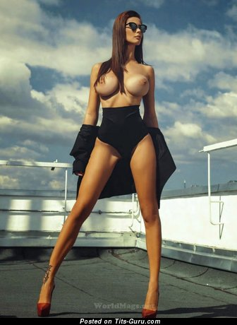 Image. Bilyana Evgenieva - naked brunette with big fake boobies picture