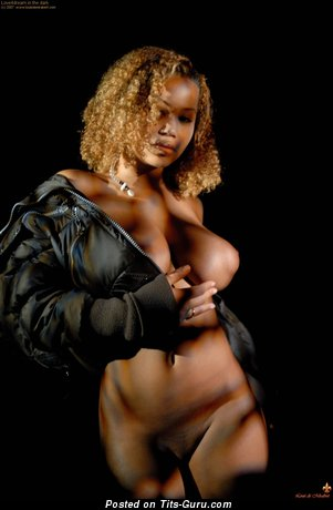 Image. Louis De Mirabert - nude ebony with huge breast photo