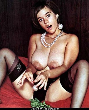 Suzanne Prichard - Perfect Brunette with Perfect Bald Real Very Big Boobys (Vintage Sexual Image)