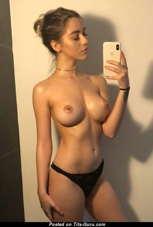 Holly James - Pretty British Brunette with Pretty Bald Fake Tittys (Selfie 18+ Photo)