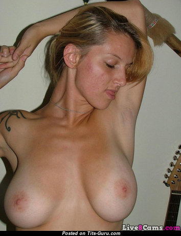 Pleasing Nude Blonde Babe with Red Nipples (Private Hd 18+ Picture)
