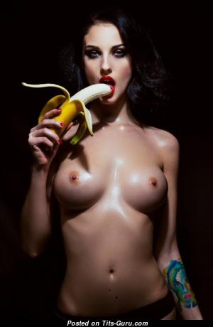 Alla Berger - Hot Topless Russian Brunette with Hot Bald Natural Regular Boobys (Hd 18+ Pix)