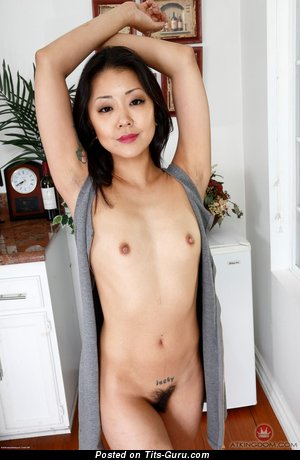 Saya Song - sexy nude asian brunette with small natural tots pic