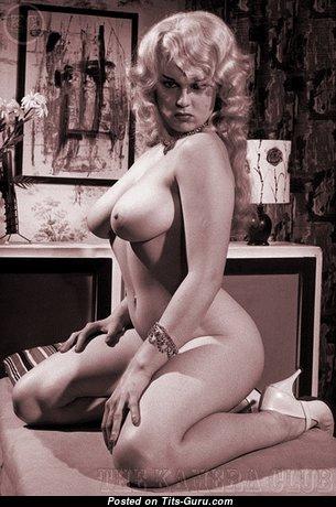Lorraine Burnett - Alluring British Blonde with Alluring Open Natural Med Tittes (Vintage 18+ Photo)