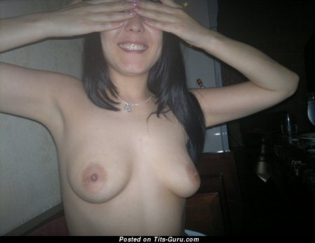 Sweet Brunette with Sweet Exposed Petite Titty (Private Porn Pic)