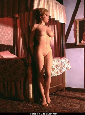 Margaret Nolan - Gorgeous British Blonde with Gorgeous Nude Real Soft Chest (Vintage Porn Image)
