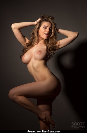 Kylie Kole - Good-Looking Blonde with Good-Looking Naked Real Medium Hooters (Porn Pix)