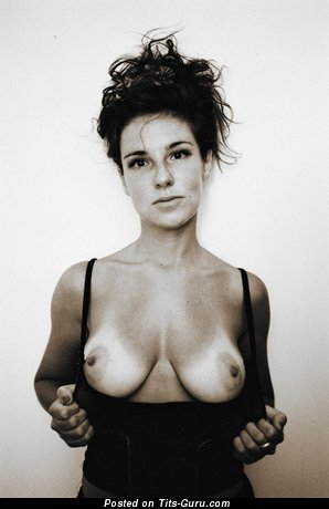 Image. Naked beautiful lady with natural boobs image