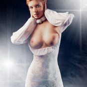 Wonderful lady with medium natural tittys picture