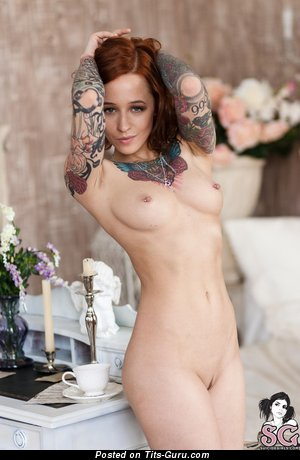 Jane Sinner - Dazzling Russian Woman with Dazzling Defenseless Natural Tits, Piercing & Tattoo (Hd Porn Picture)