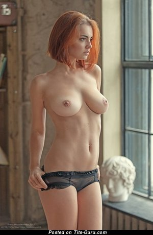 Image. Sexy nude red hair with natural tits photo