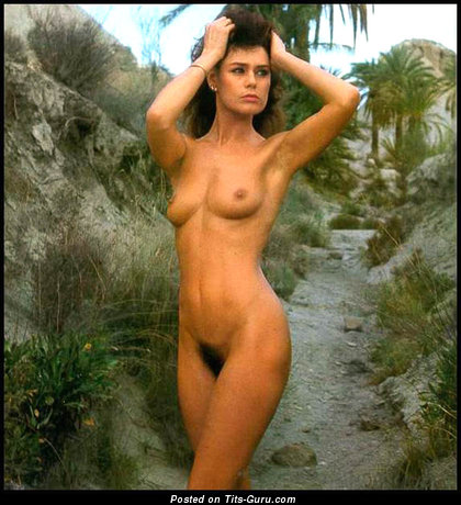 Corinne Cléry - Pleasing Topless Babe with Pleasing Nude Natural Narrow Hooters & Puffy Nipples (Vintage 18+ Wallpaper)