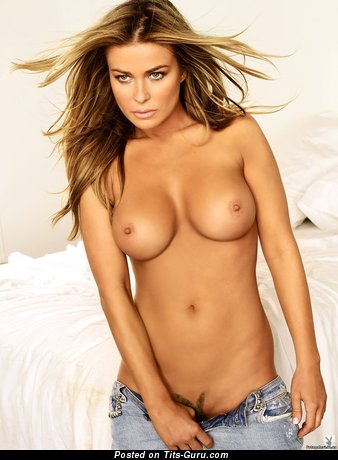 Carmen Electra - Superb Topless American Playboy Red Hair Actress with Superb Naked Round Fake Tight Busts (Hd Sex Image)