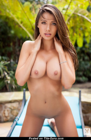 Casey Connelly - Cute Topless American Playboy Brunette Babe with Cute Exposed D Size Boob & Red Nipples (Sex Pic)