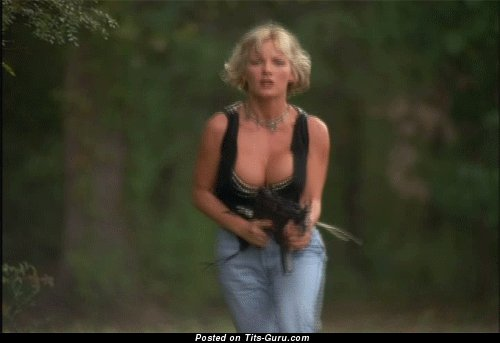 Image. Gungirl - naked beautiful female with big tittes gif