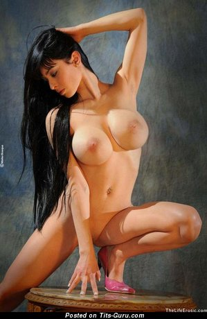 Lovely Miss with Lovely Bare Big Sized Knockers (Sex Foto)