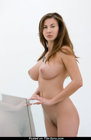Image. Connie Carter - nude brunette with medium natural boobs pic
