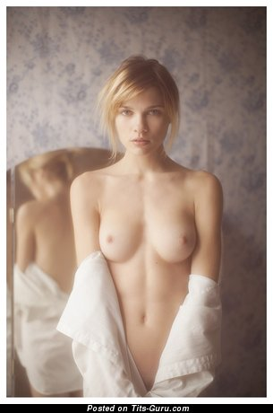 Image. Naked nice girl with medium natural breast photo