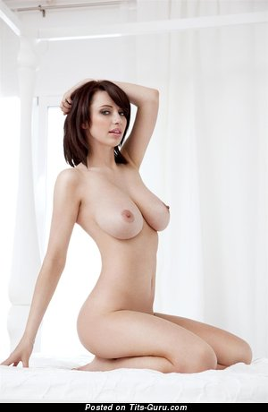 Image. Sophie Howard - naked brunette with big natural boobs pic