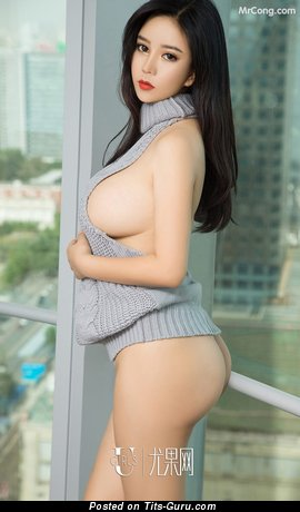 Ai Na - Amazing Glamour Nude Asian Brunette Babe (on Public Hd Porn Foto)