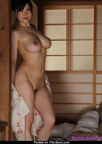 Anri Okita - Fascinating Topless & Glamour Japanese, British Brunette Pornstar with Sweet Nude Real Mega Tittys (Hd Sex Photoshoot)