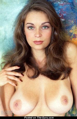 Liz Glazowski - naked brunette with medium natural tots vintage