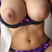 Hot woman with huge breast picture