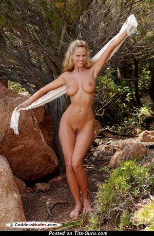 Image. Zuzana Drabinova - sexy topless blonde with medium natural tots photo