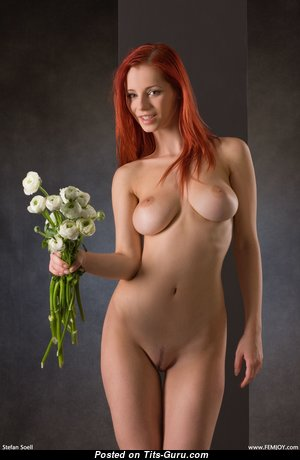 Ariel Piper Fawn - Adorable Czech Red Hair Babe & Pornstar with Adorable Exposed Real Medium Tots & Red Nipples (4k Sex Pix)