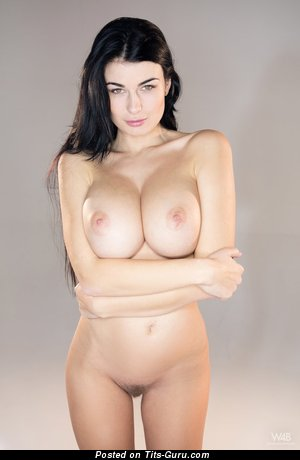 Image. Lucy Li - nude brunette with big boobies image