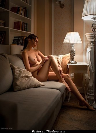Exquisite Babe with Exquisite Bald Real D Size Tits (Xxx Photoshoot)