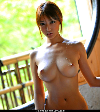 Nude asian with big boob photo