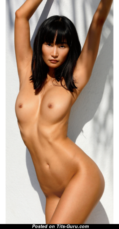 Miki Hamano - Alluring Asian Playboy Skirt with Alluring Nude Natural Titties (Sexual Photo)
