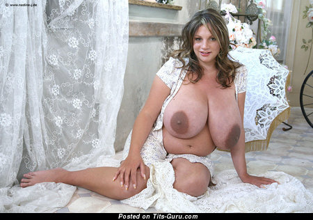 Nadine Jansen - naked wonderful female with big natural boob picture