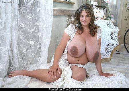 Nadine Jansen - Marvelous German Pornstar with Marvelous Defenseless Real H Size Boobie (Sex Wallpaper)