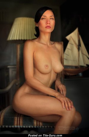 Image. Juliana Asarco - naked brunette with medium natural tittes photo