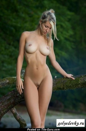 The Best Blonde Babe with The Best Bald Medium Sized Boobies (Sexual Pix)