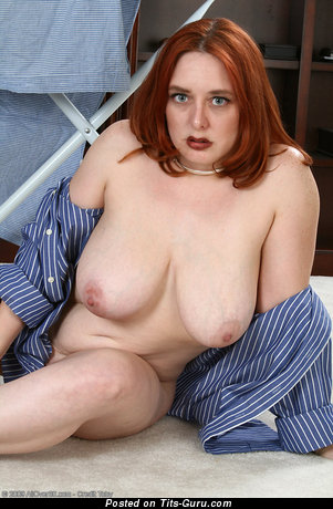 Wednesday - Charming Red Hair with Charming Naked Real D Size Tits (Sex Photoshoot)