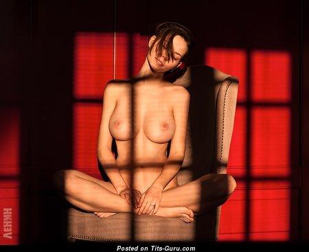 Ksyusha Egorova - sexy nude awesome lady with medium natural tots photo