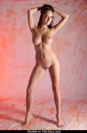 Image. Anabelle - sexy topless brunette with natural boobs photo