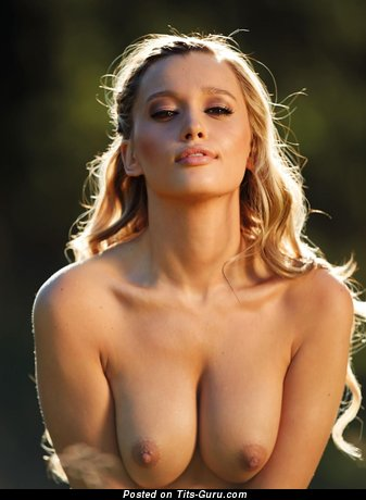 Sexy naked hot lady with medium natural boobs photo