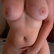 Beautiful lady with huge natural tits image