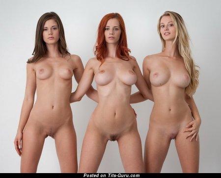Shay Laren: рыжая девушка и порнозвезда (США) с эффектной обнажённой натуральной средней грудью (секс картинка)