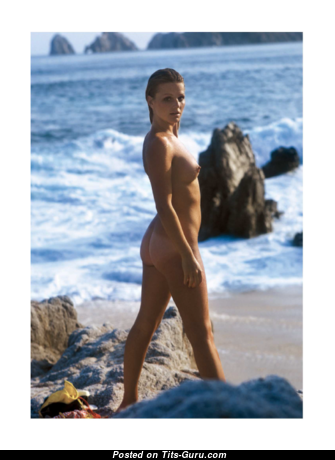 Jean Manson - Elegant Undressed Playboy Blonde on the Beach (Sexual Pix)