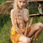 Wonderful girl with medium natural tittes image