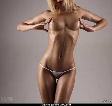 Image. Naked beautiful female with medium natural boobs photo