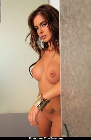 Alexa Varga - Appealing Brunette with Gorgeous Exposed Dd Size Breasts (Sex Pix)