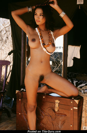 Karin Taylor - Dazzling Jamaican Playboy Brunette Babe with Dazzling Open Real Med Busts (Hd Sexual Picture)